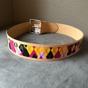 Dior Accessories - •RARE• Christian Dior Argyle Belt